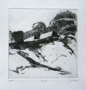 Einöd, 14,8 x 14,8 cm, 2004, Aquatínta