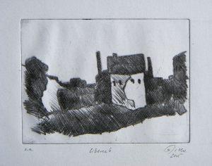 Liberec 6, 11 x 14,7 cm, 2005, Kaltnadel